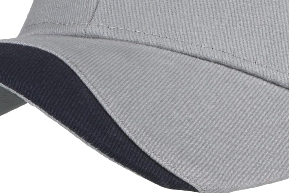 C6772 Cotton 6 Panel Cap with Wave effect peak detail