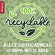 100% Recyclable Products