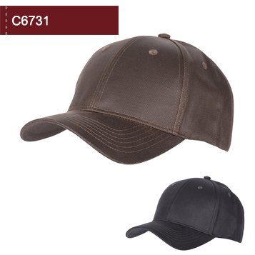 C6731 Oiled Cotton 6 Panel Cap